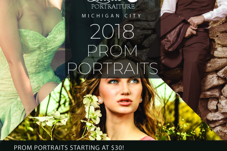 Now Booking for 2018 Prom Portrait Sessions at Studio 18